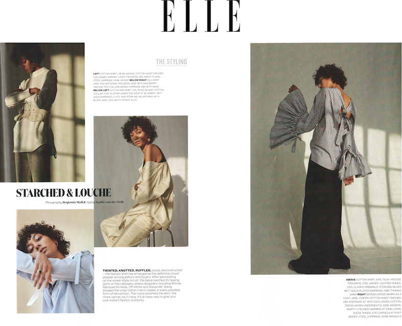 Elle article featuring Teija shirt