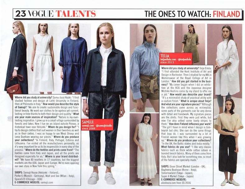 Vogue Italy - ones to watch